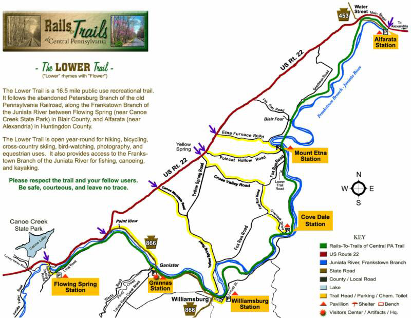 Rails to Trails of Central Pennsylvania - Featuring the